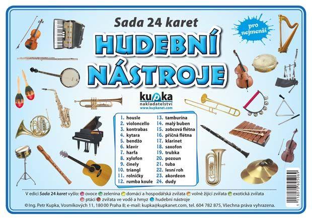 Sada 24 karet - hudební nástroje