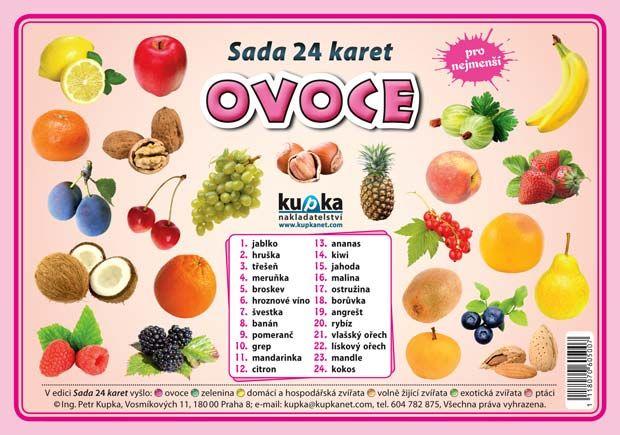 Sada 24 karet - ovoce