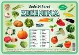 Zobrazit detail - Sada 24 karet - zelenina