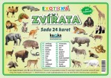 Zobrazit detail - Sada 24 karet - zvířata exotická