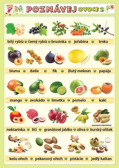Poznávej 4 - ovoce 2, zelenina 2