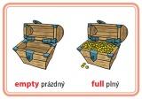Procvičovací karty - protiklady v angličtině