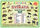 Zobrazit detail - Sada 24  karet  - zvířata exotická 2