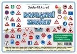 Zobrazit detail - Sada 48 karet - dopravní značky