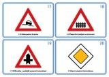 Sada 48 karet - dopravní značky