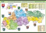Zobrazit detail - Slovenská republika - administrativní mapa