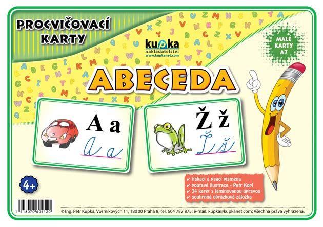 Procvičovací karty - abeceda nakladatelství Kupka