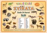 Sada 24 karet - zvířata volně žijící
