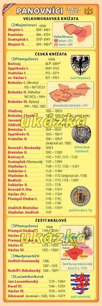 Záložka - Panovníci českých zemí nakladatelství Kupka