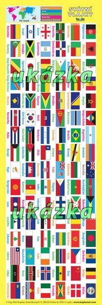 Záložka - Státní vlajky nakladatelství Kupka