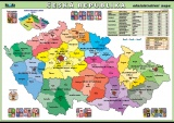 Česká republika - administrativní mapa