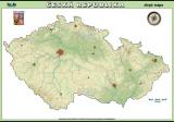 Česká republika - slepá mapa