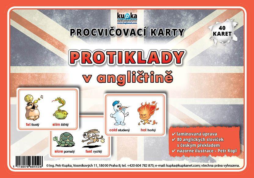 Procvičovací karty - protiklady v angličtině nakladatelství Kupka