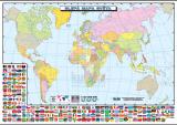 Slepá mapa světa (politická) nakladatelství Kupka